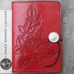 Handmade Genuine Leather Roses Kindle Cover