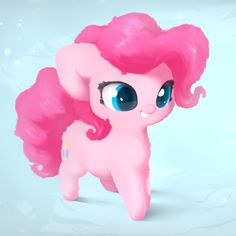 Cute pastel wallpaper of Pinkie Pie!