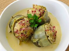 I know Málaga: Vegetables Stuffed Artichokes Spanish Cuisine, Spanish Food, Nut Recipes, Cooking Recipes, Chicken Salad Recipes, Perfect Food, Tapas, Potato Salad, Food To Make