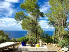 Loft in Sant Josep de sa Talaia, Spain. One of a kind loft, located on the mountain side of beautiful Saint Miguel, direct view to the nature and sea, secluded and quiet. Newly decorated in 2014  The loft is divided in 3 levels : One for the dining area and the direct access to the gard...