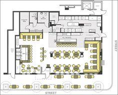 Restaurant Layout, Restaurant Floor Plan, Restaurant Seating, Restaurant Interior Design, Restaurant Kitchen, Architecture Restaurant, Cafe Seating, Restaurant Ideas, Cafe Floor Plan