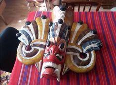 Unique totem! -Wooden sculpture-art object painting / collection-Unique statue ! --Handmade-- #unique #RoomDecor #KitchenArt #handmade #OfficeArt #totem #HomeDecor #UniqueArt #OldTotem #80CmHeight Wood Painting Art, Statue, Art Object, Wood Sculpture, Craft Supplies, Carving, Joy, Shapes, Collection