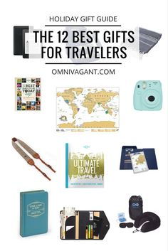 gifts for travelers, travel gifts, travel gift inspiration, scratch map gift, polaroid camera, book gift, holiday gifts, holiday gift guide, travel gifts tips, camera strap, photography gifts, holidays, christmas, christmas gifts