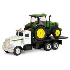 Ertl - John Deere Dealer Truck with 7R Tractor
