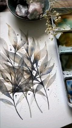 Watercolor Flowers Tutorial, Watercolor Paintings, Watercolor Techniques, Painting Techniques, Art N Craft, Art Drawings Sketches Simple, Art For Art Sake, Art Tutorials, Illustrations