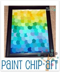 paint chip art (ombre)