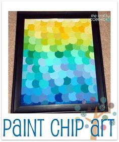 paint chip art (ombre)