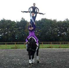 gymnastics on a horse