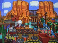"""Mountain Bar"" 2009 30"" x 40"" oil/linen"