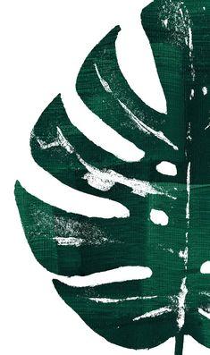 Wallpaper Art - Fushion News L Wallpaper, Aesthetic Iphone Wallpaper, Botanical Wall Art, Botanical Prints, Leaf Prints, Wall Prints, Green Wall Art, Leaf Art, Large Art
