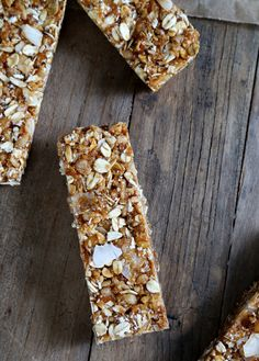No Bake Gluten Free Granola Bars - Gluten-Free on a Shoestring I would leave out the coconut (I don't like it) and replace it with dried fruit and nuts