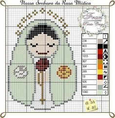 Saint Feast Days, Beading Patterns, Pixel Art, Cross Stitch Patterns, Baby Dolls, Sewing Projects, Madonna, Embroidery, C2c