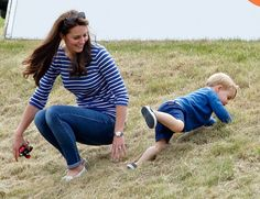 Prince George and Kate Middleton at Polo Match in June 2015 | POPSUGAR Celebrity