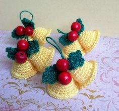 Pack 4 Campanas Navidad de Rosebud por DaWanda.com