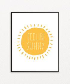 Sun Wall Art, Yellow Home Decor, Sunny Print, Printable Sun Poster Yellow Wall Decor, Yellow Home Decor, Sunshine Pictures, Paris Drawing, Sun Painting, Ink Illustrations, Digital Illustration, Bright Walls, Simple Prints