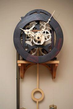 fully wooden clocks.    Plans