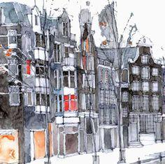 Amsterdam 1 (detail)  -  Simone Ridyard, Manchester architect and artist