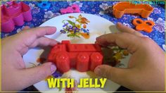 Funy learn colors with jelly | Squishy colored Jelly for toddlers | Lear...