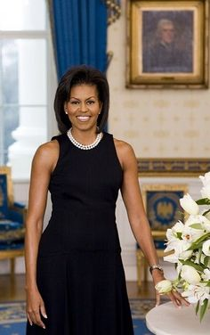 First Lady Michelle Obama..just sheer elegance and beauty. I aspire to be like her in every way.