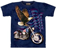 90a15d816fc Born to Ride Eagle The Mountain Tee Shirt.