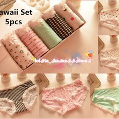 3 for 4 kawaii pattern undies 5pcs/pack