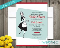 5f54130b60a Happy Housewife Printable Retro Bridal Shower by iwedfred on Etsy Retro  Bridal Showers