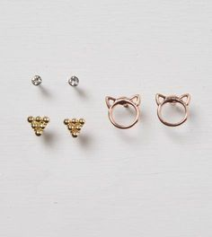 earring set - those kitty ones are so cute!