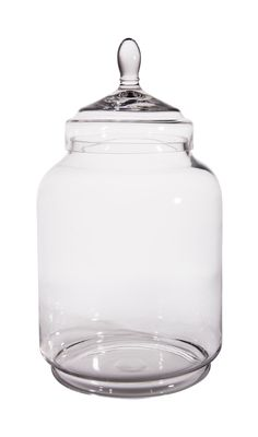 "Canfloyd, Home Details. R58037 - Glass jar with lid; 7x10x20"". MSRP $125.00"