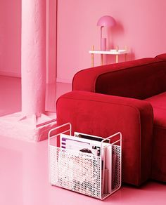 Indulging red and pink interior in the Pink gallery in Normann Copenhagen's Showroom Red Interior Design, Black Interior Doors, Pink Office, Lounge, Red Interiors, Home Office Design, Decoration, Red And Pink, Home Accessories