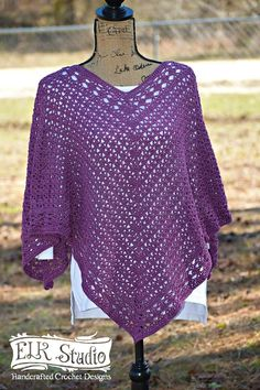 Southern Diamonds Poncho By Kathy Lashley - Free Crochet Pattern - (ravelry)