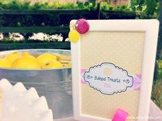 Baked Treats Sign Summer Activity: Lemonade Stand & Bake Sale