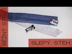 Jak šít slepý steh na běžném šicím stroji | Caramilla Easy - YouTube Fabric Stamping, Textiles, Diy And Crafts, Quilts, Sewing, Bags, Inspiration, Color, Youtube