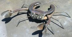 horseshoe crab metal yard art home  office  boat by ralphpossa1, $25.00