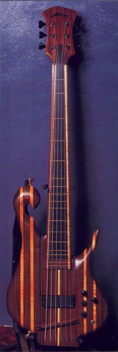 Carl thompson string fretless les rainbow bass my