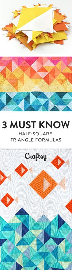 With variations in fabric, color and arrangement, half-square triangle quilt design possibilities are endless! And when you know how to make your HSTs just the right size, you can create new designs with just a little bit of math. @Craftsy