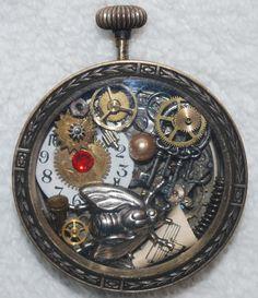 Clockwork Codex Steampunk Pocket Watch Art by RavensCrafts on Etsy, $40.00