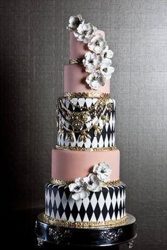 Harlequin inspired wedding cake! Fine Cakes By Zehra