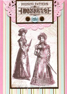 Regency Fashion Rubber Stamp Collection