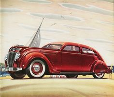 1937 Chrysler Airflow Coupe...the first car to streamline...