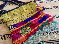 Boho Hippy Tribal Vintage Fabric Handmade Pakistani Kuchi Fabric, Beaded, Tasseled Messenger Bag Purse by MessyJewelry on Etsy