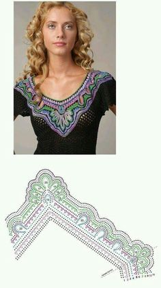 Beautiful crochet top.  Divina