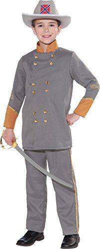 GTH Boy's Confederate Office Kids Child Fancy Dress Party Halloween Costume, L (12-14) *** See this great image @