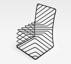 Thin Black Lines Chair by Nendo. #ART #DESIGN #furniture #chair #black #lines #Nendo #minimalism #abstract #sculpture