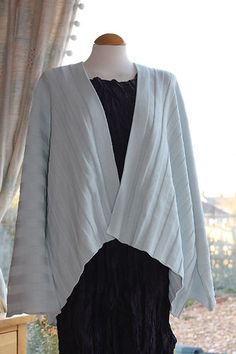 BNWT Shirin Guild duck egg blue green cotton knit abba cardigan osfa lagenlook - £99.99