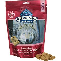 My dogs love these! | Blue Buffalo Wilderness Trail Treats Grain-Free Dog Biscuits | Salmon Dog Treats