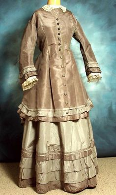 1870s bustle gown