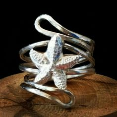 Sterling Silver Starfish Ring. By Silverre Bespoke Jewellery.