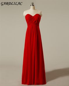 >> Click to Buy << Real Picture Off the shoulder red  long Bridesmaid Dress   Chiffon  Sweetheart Wedding Party Dress  #Affiliate