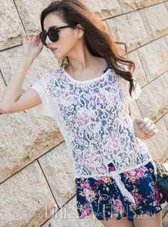 Clothing, Brilliant Casual Two-Piece Lace and Cotton Print Dress , $22.39