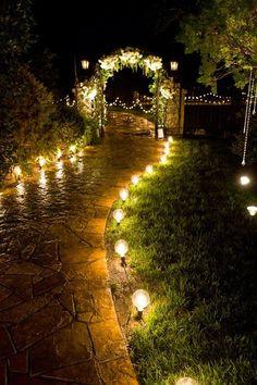 Gardens that look good in the dark too